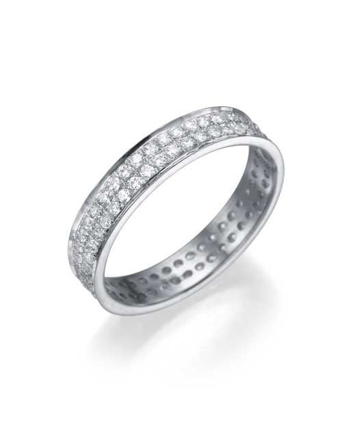 White Gold 0.72ct Diamond Full-Eternity Wedding Ring - Custom Made