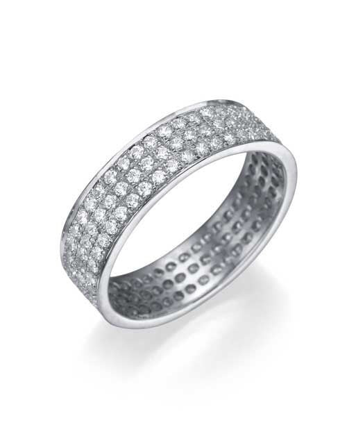 White Gold 1.08ct Diamond Full-Eternity Wedding Ring - Custom Made