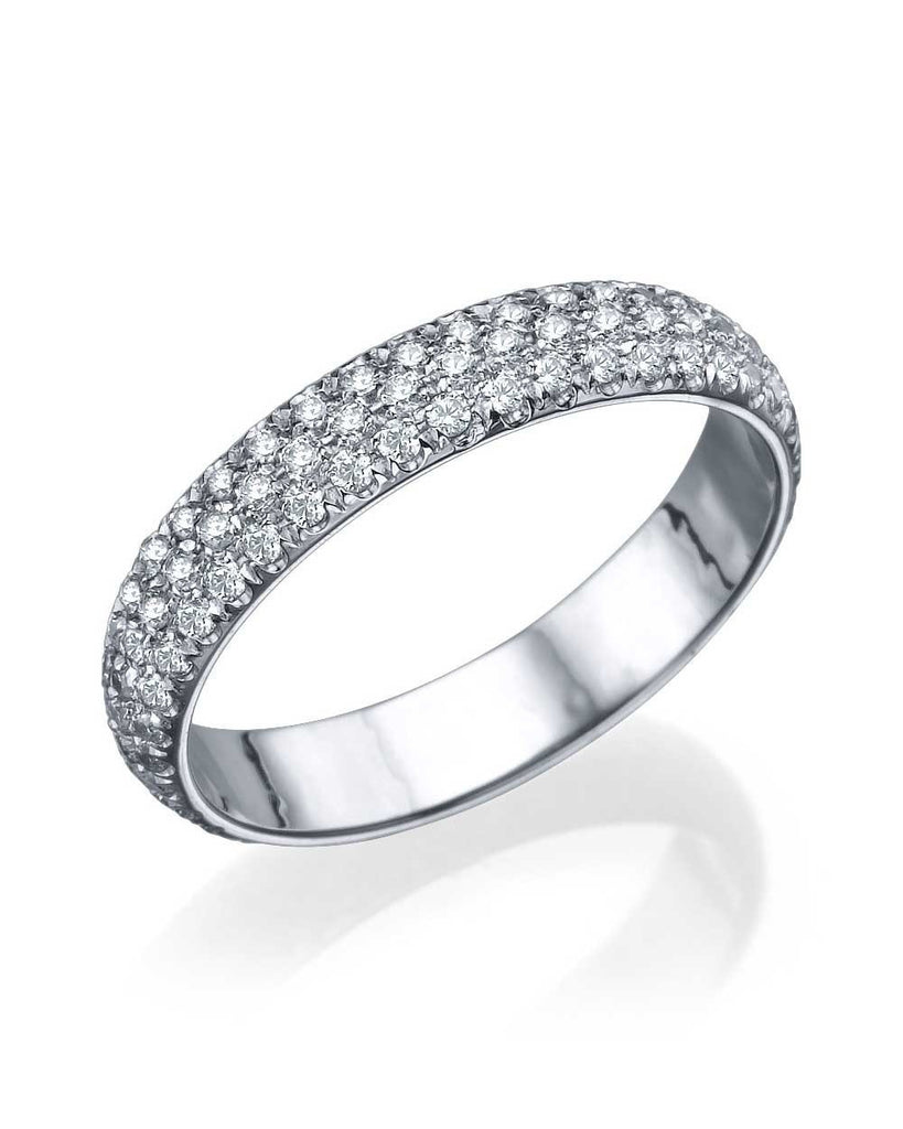 White Gold 1.20ct Diamond Full-Eternity Wedding Band Ring - Custom Made