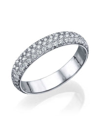 Wedding Rings White Gold 1.20ct Diamond Full-Eternity Wedding Band Ring