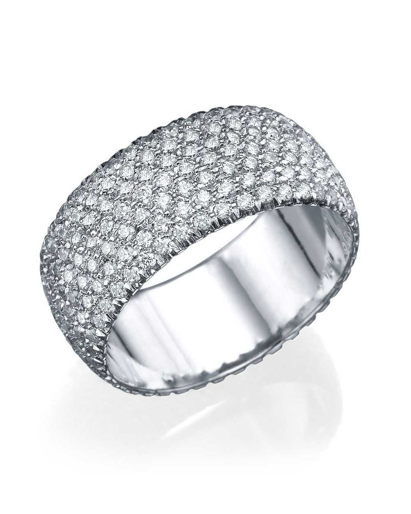 Wedding Rings White Gold 2.80ct Diamond Full-Eternity Pave Wedding Band Ring
