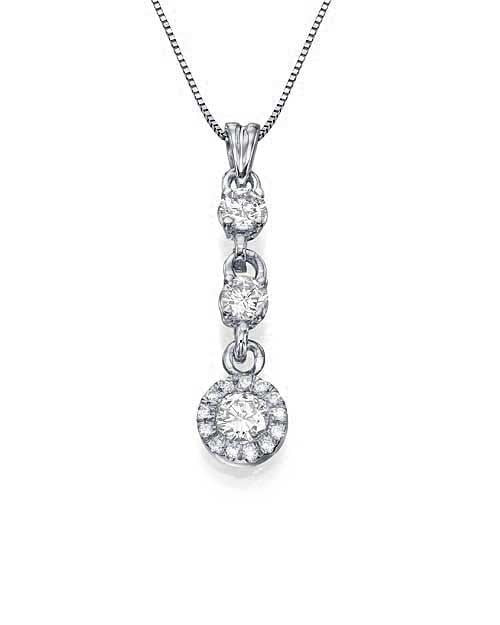 White gold 3 stone halo diamond pendant necklace golden rings pendants white gold 3 stone halo diamond pendant necklace golden rings design aloadofball Image collections