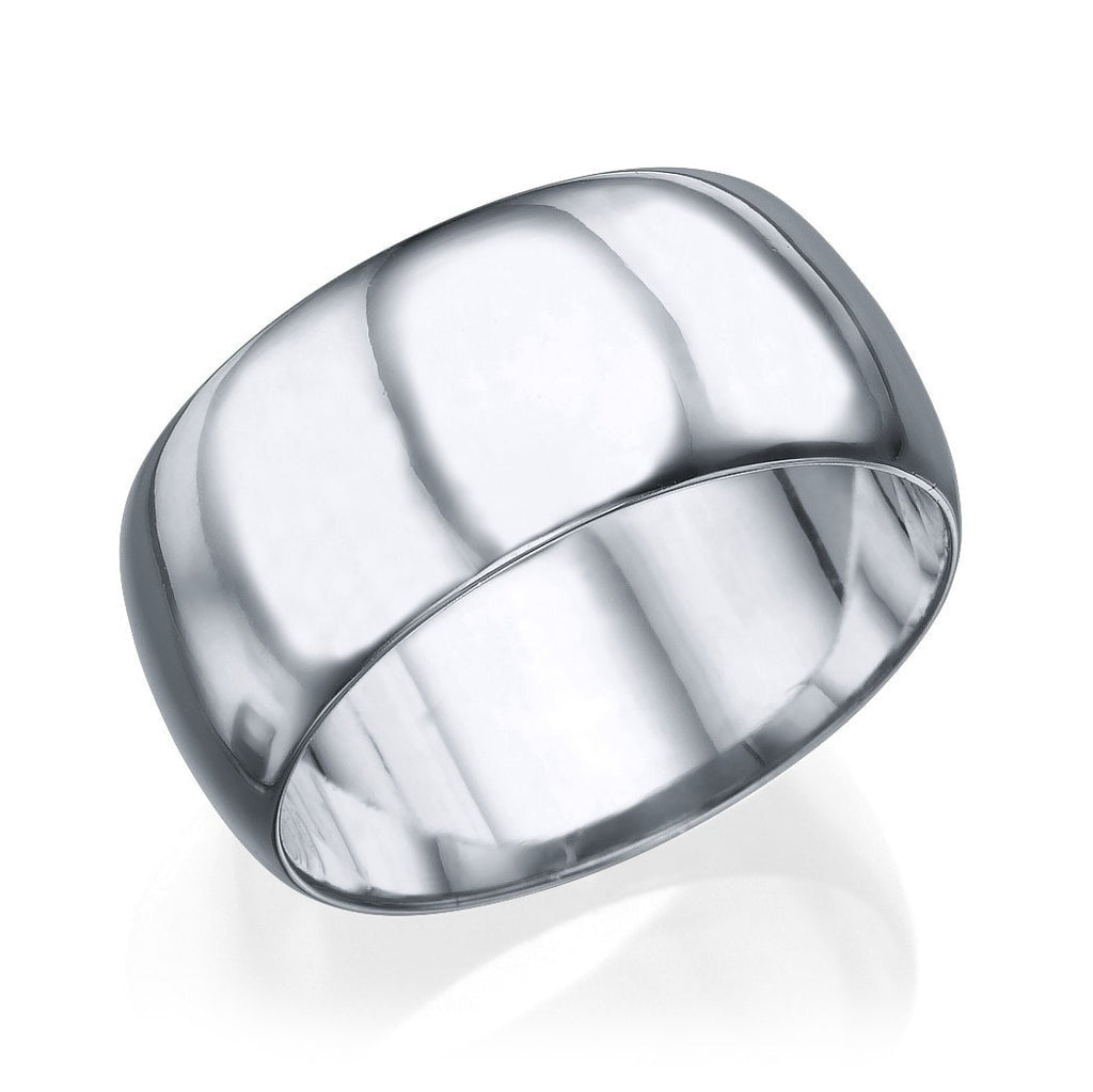 Wedding Rings White Gold Men's Wedding Ring - 7.7mm Rounded Plain Band