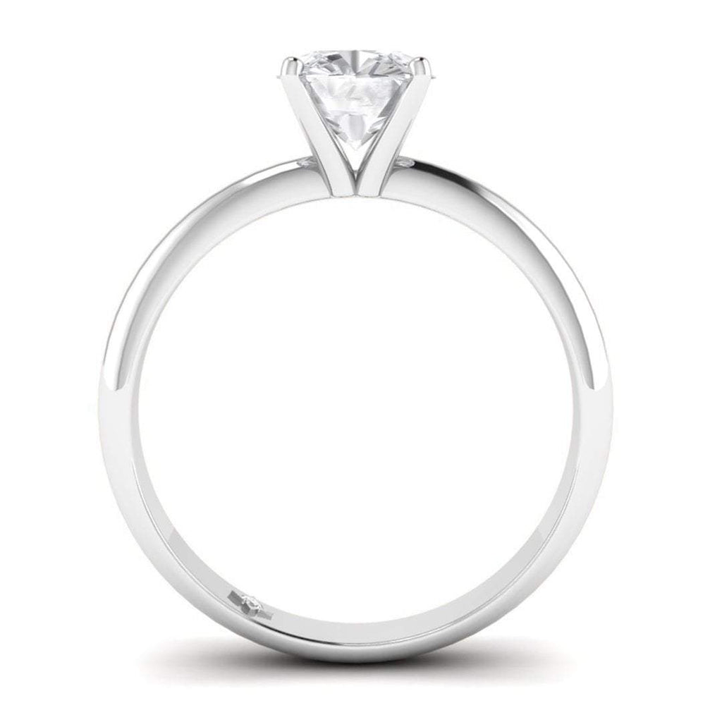 0.50 carat D/SI1 White Gold Cushion Diamond Engagement Ring Timeless 4-Prong Tapered - Custom Made