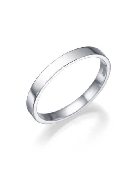 Wedding Rings White Gold Womens Wedding Rings - 2.5mm Flat Design for Women