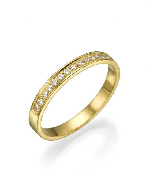 Yellow Gold 0.12ct Diamond Semi-Eternity Wedding Ring - Custom Made