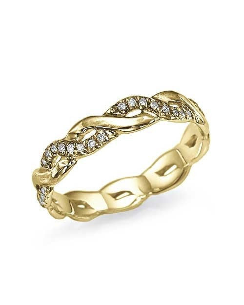 Wedding Rings Yellow Gold 0.17ct Diamond Infinity Wedding Ring