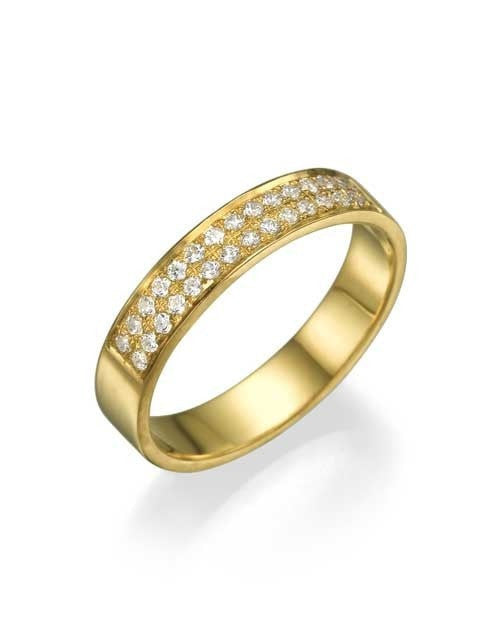 Yellow Gold 0.24ct Diamond Semi-Eternity Wedding Ring - Custom Made