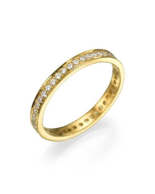Wedding Rings Yellow Gold 0.36ct Diamond Full-Eternity Wedding Ring