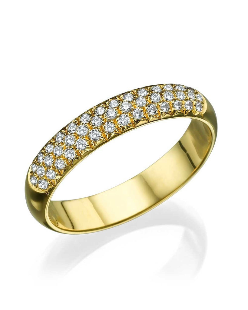 Yellow Gold 0.39ct Diamond Semi-Eternity Wedding Ring - Custom Made