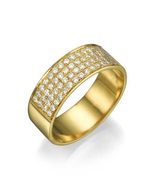Wedding Rings Yellow Gold 0.48ct Diamond Semi-Eternity Wedding Ring