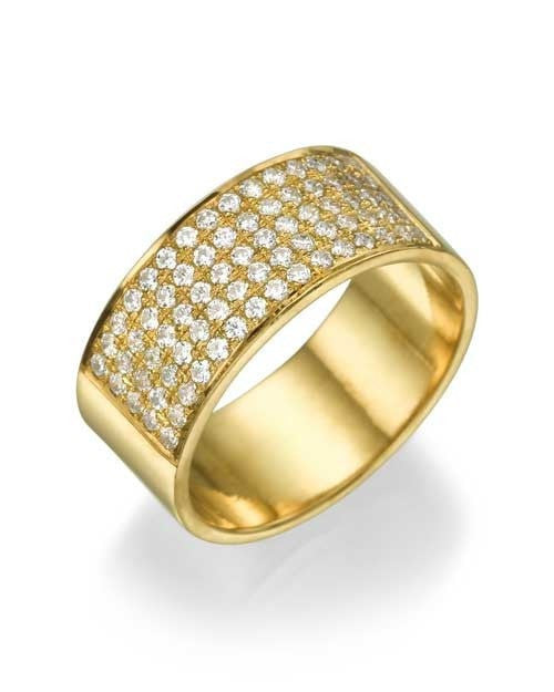 Wedding Rings Yellow Gold 0.60ct Diamond Semi-Eternity Wedding Ring