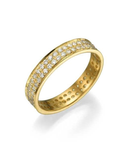 Yellow Gold 0.72ct Diamond Full-Eternity Wedding Ring - Custom Made