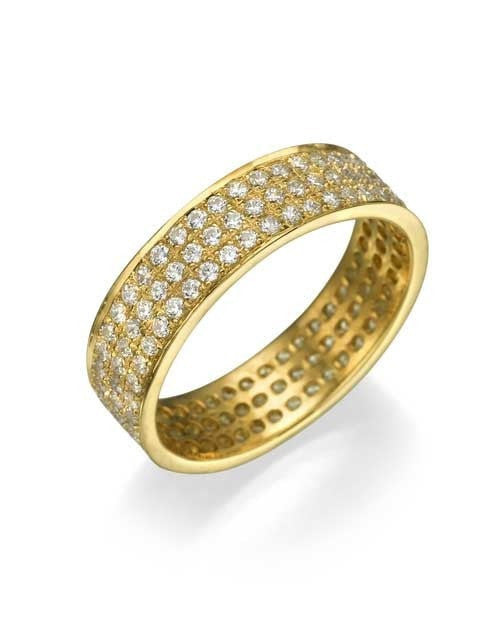 Wedding Rings Yellow Gold 1.08ct Diamond Full-Eternity Wedding Ring