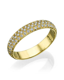 Wedding Rings Yellow Gold 1.20ct Diamond Full-Eternity Wedding Band Ring
