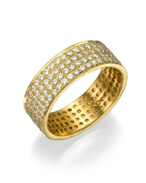 Yellow Gold 1.44ct Diamond Full-Eternity Wedding Ring - Custom Made