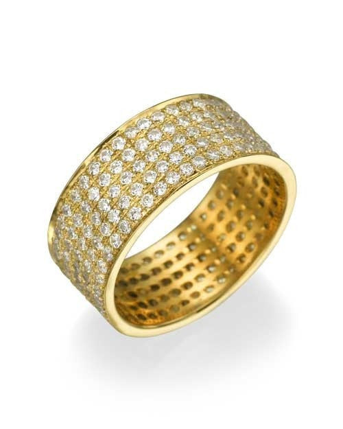 Wedding Rings Yellow Gold 1.80ct Diamond Full-Eternity Wedding Ring