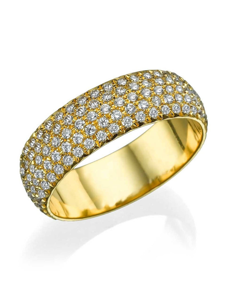 Wedding Rings Yellow Gold 2.00ct Diamond Full-Eternity Pave Wedding Ring Band
