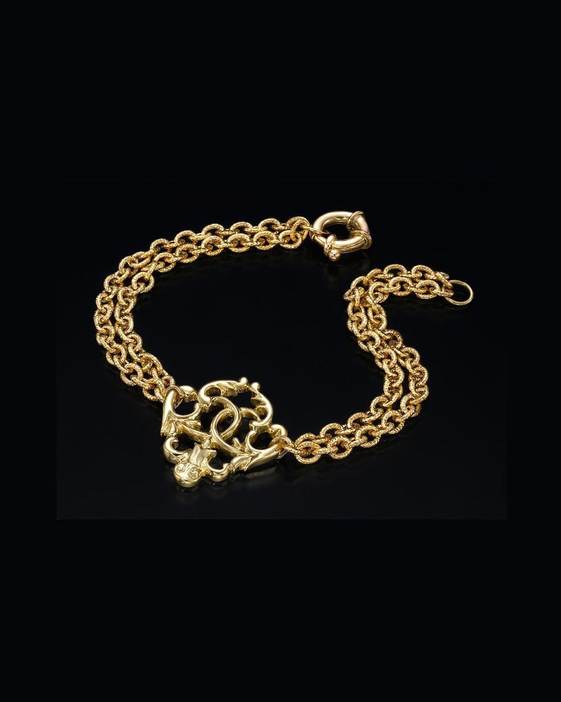 Yellow Gold Designer Antique Vintage Jewelry Bracelet - Custom Made
