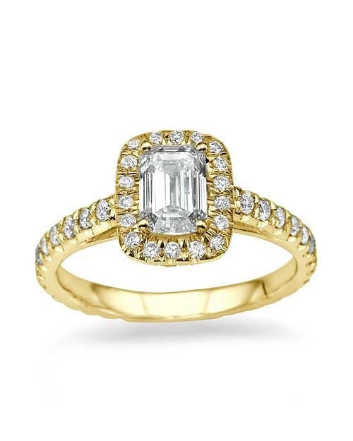 a modern emerald cut engagement baguette ring rings accent vintage with