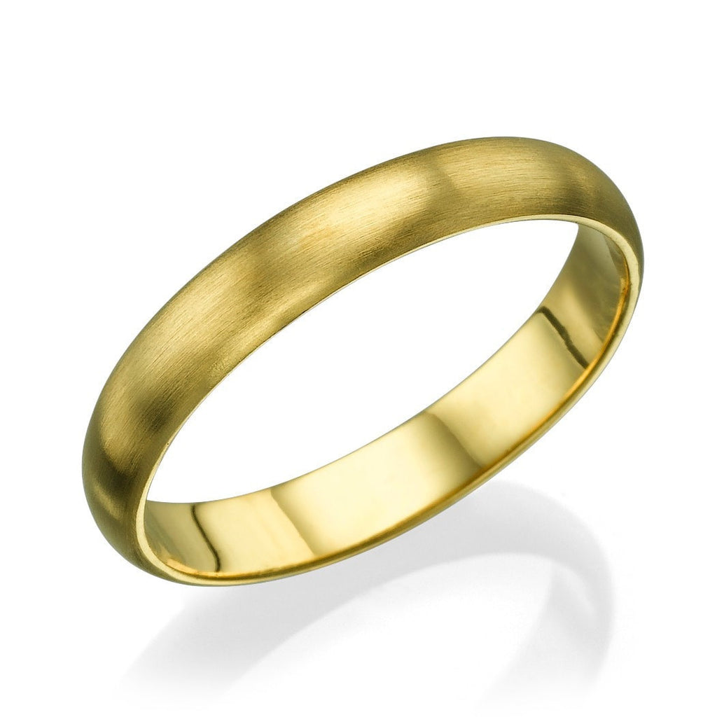 Wedding Rings Yellow Gold Men's Wedding Ring - 3.6mm Plain Rounded Band