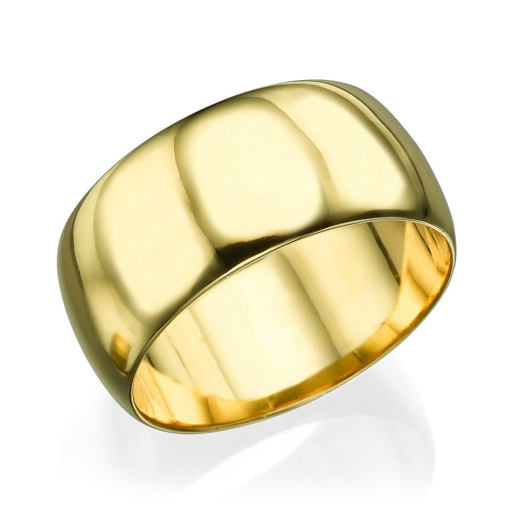 Wedding Rings Yellow Gold Men's Wedding Ring - 7.7mm Rounded Plain Band