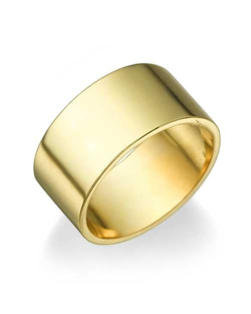 Wedding Rings Yellow Gold Men's Wedding Ring - 9.4mm Flat Design
