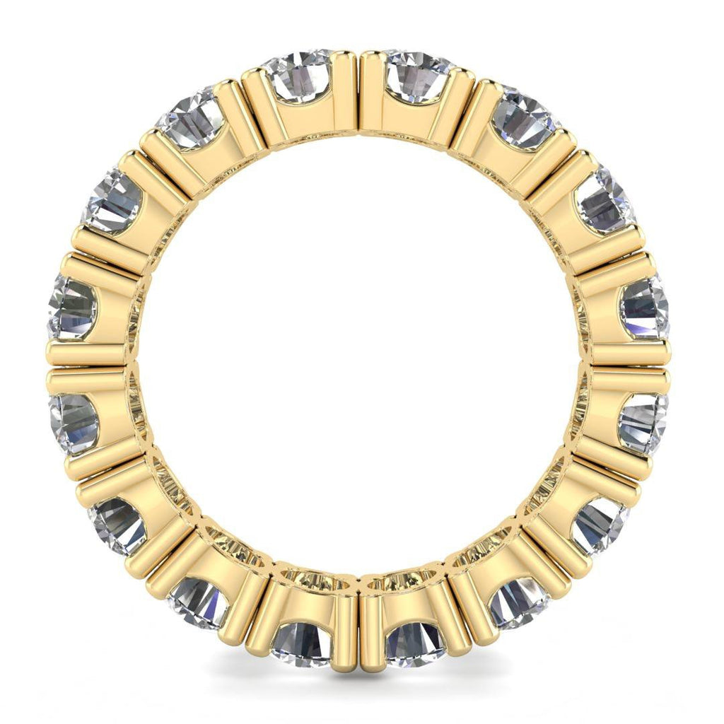 Yellow Gold Prong Diamond Eternity Band Ring - Custom Made