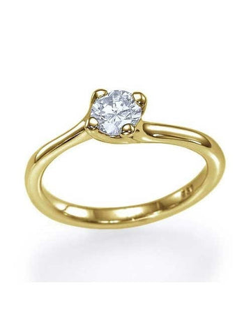 Engagement Rings Yellow Gold Twisted Italian Design Semi Mount Diamond Rings