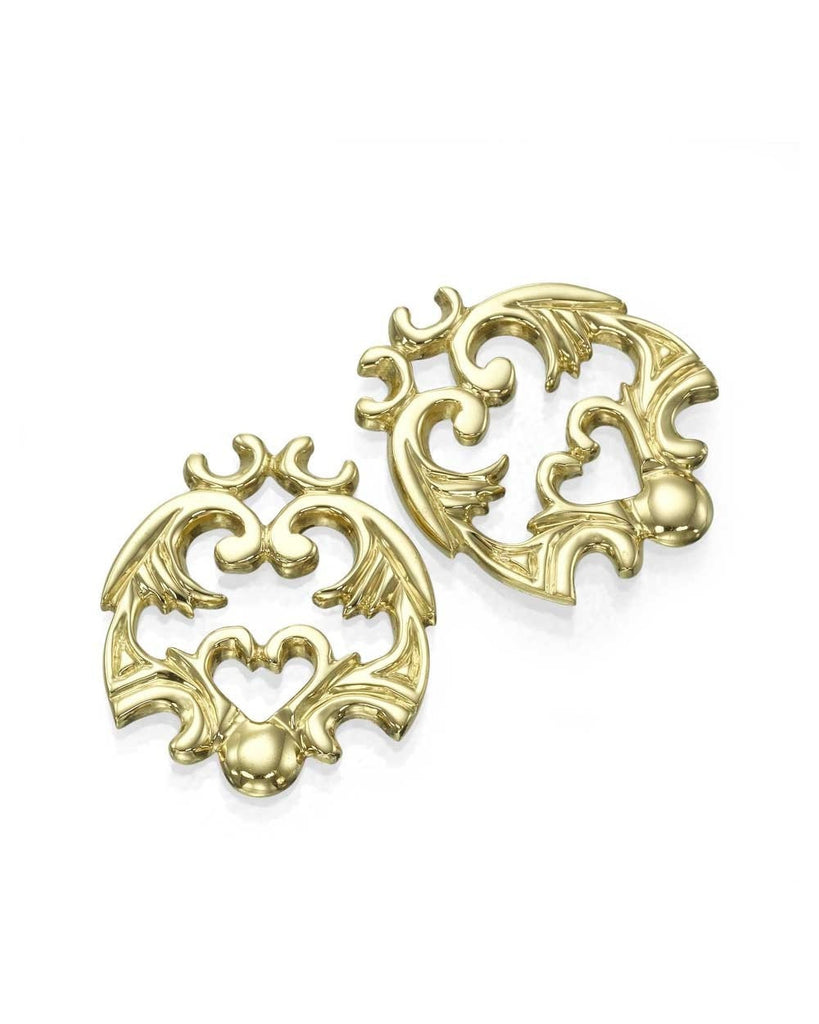 Yellow Gold 'Vault' Antique Filigree Designer Earrings - Custom Made