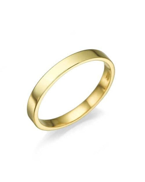 Wedding Rings Yellow Gold Wedding Bands for Women - 2.5mm Flat Ring