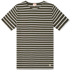 ID6384-Armour Lux Green & White Striped T-Shirt