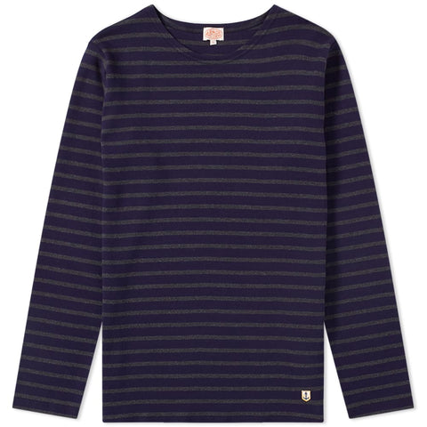 Armor Lux Navy & Grey Long Sleeve T-Shirt-6388