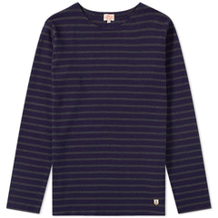 Armor Lux Navy & Grey Long Sleeve T-Shirt