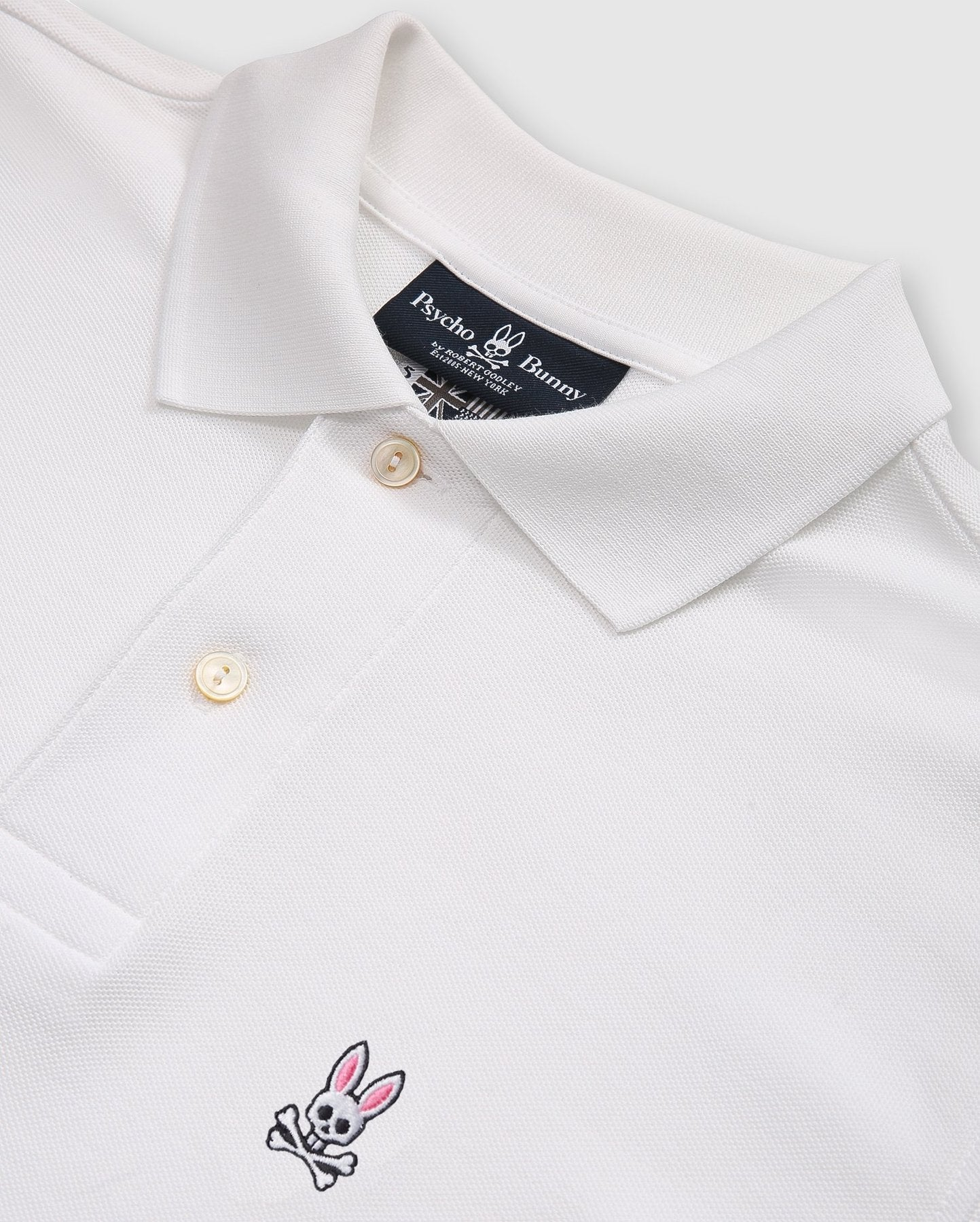 ID20294-Psycho Bunny White Classic Polo