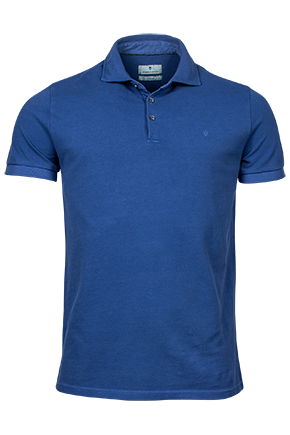 ID10207-Thomas Maine Washed Cobalt Polo
