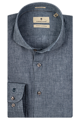 ID10235-Thomas Maine Denim Blue Linen L/S Shirt