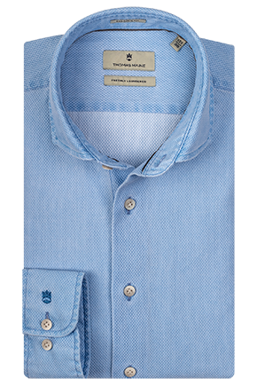 ID10231-Thomas Maine  Sky Washed Waffle Shirt