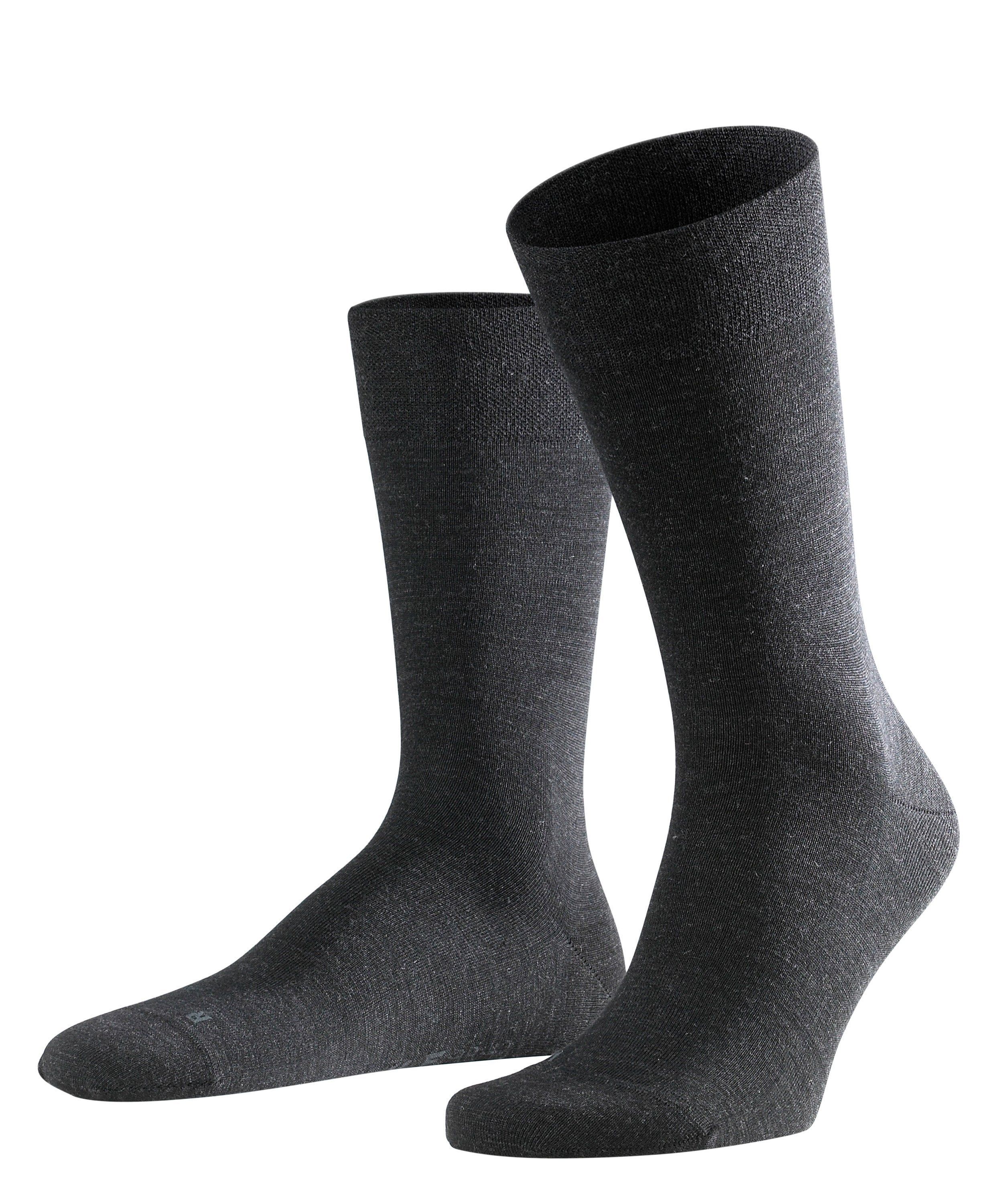 ID8564-Falke Sensitive Berlin Plain Charcoal Sock