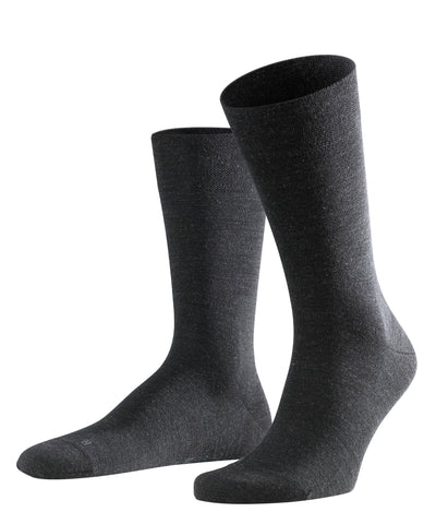 Falke Sensitive Berlin Plain Charcoal Sock 8564