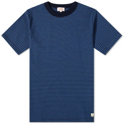 ID20010-Armor Lux Navy Teal Stripe T-Shirt