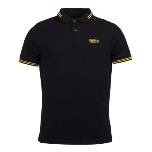 ID20068-Barbour International Black Tipped Polo