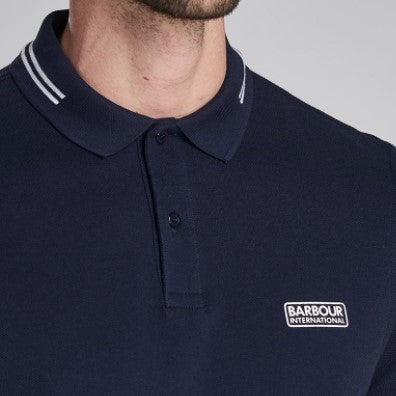ID20069-Barbour International Navy Tipped Polo