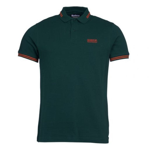 ID20070-Barbour International Green Tipped Polo