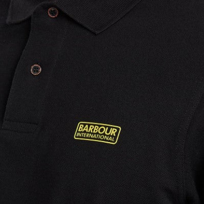 ID20073-Barbour International Black Long Sleeve Polo