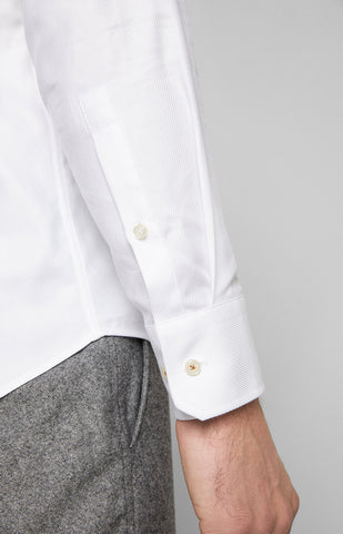 ID20158-Joop White Twill Shirt