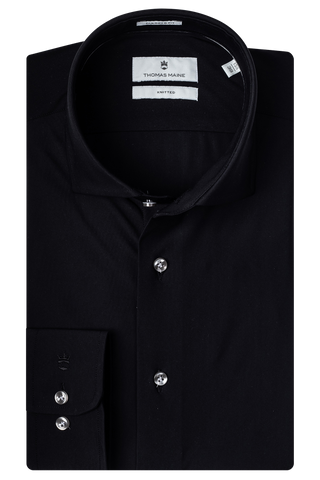 ID20333-Thomas Maine Black Jersey Shirt