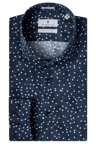 ID20330-Thomas Maine Washed Navy Spot
