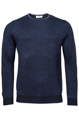 ID20317-Thomas Maine Blue Jacquard Knit