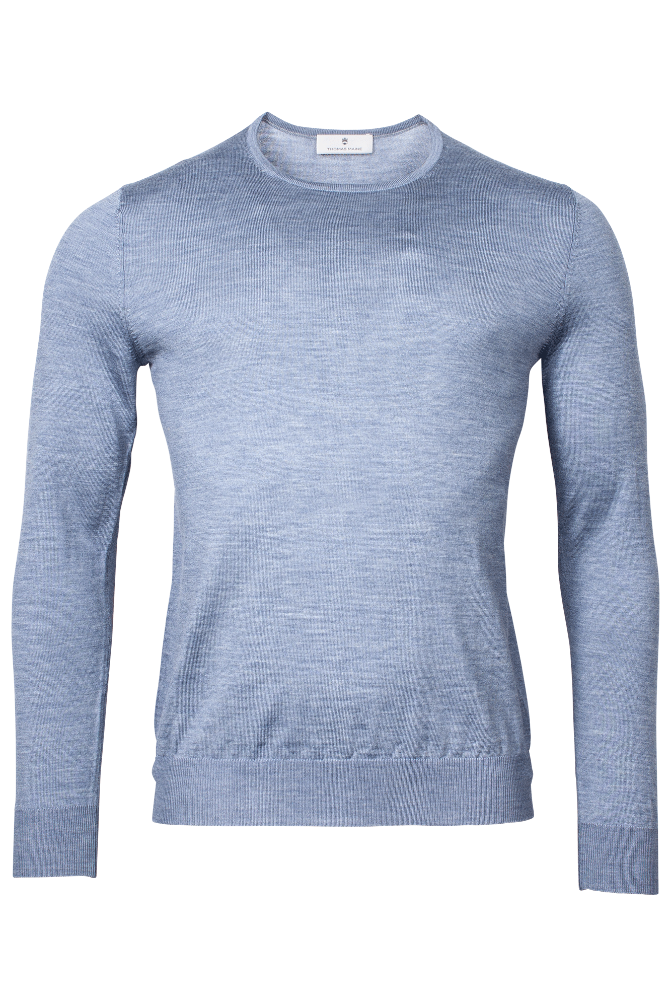 ID20311-Thomas Maine Sky Merino Crew Neck
